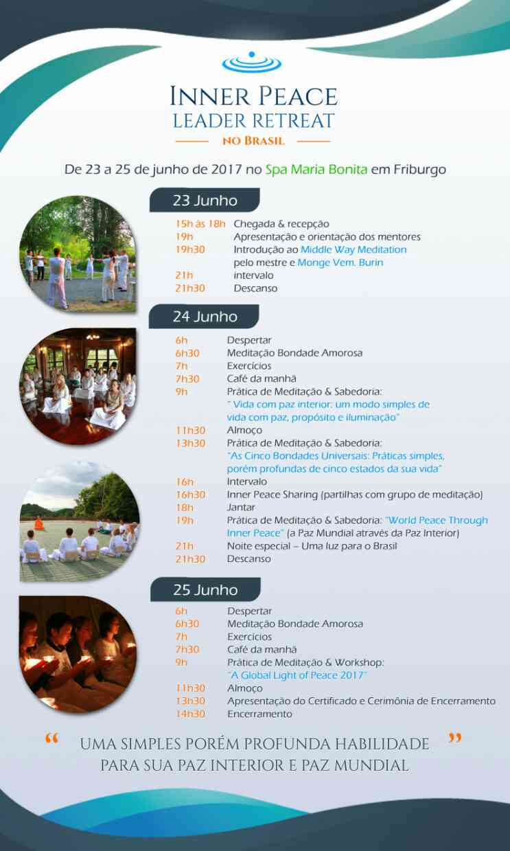 Inner Peace Leader Retreat in Brazil - schedule