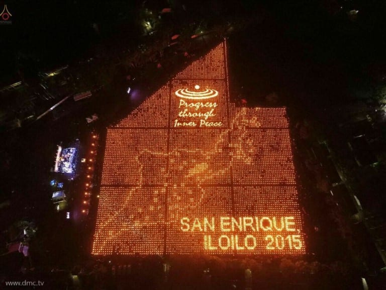 The Light of Peace at San Enrique Philippines 2015