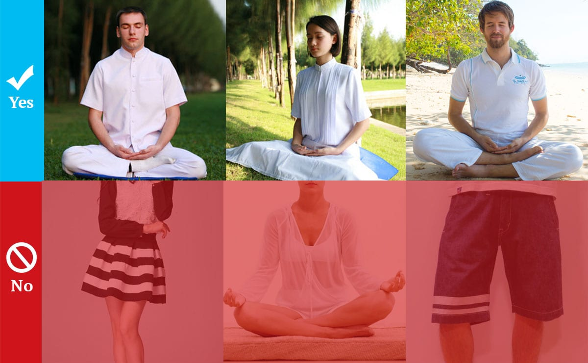 Meditation Retreat Guideline about Clothes